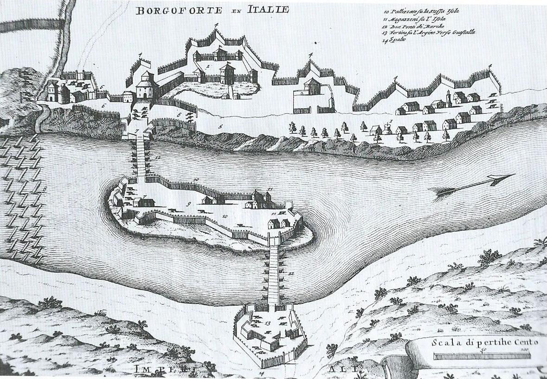 Carta dell'antico ponte di Borgoforte