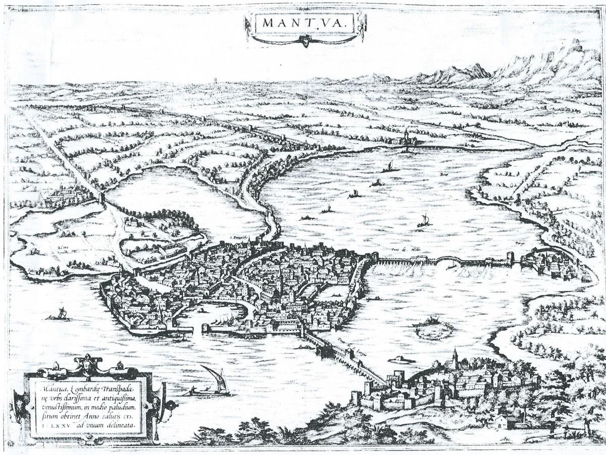 Cartina di Mantova del 1575
